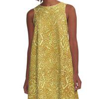Vintage Triskle Celtic Trinity Knot Yellow Gold A-Line Dress