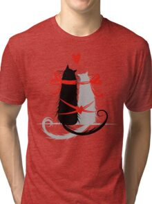 Couple of cats in love. Tri-blend T-Shirt