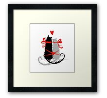 Couple of cats in love. Framed Print