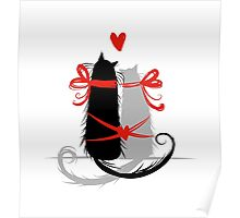Couple of cats in love. Poster