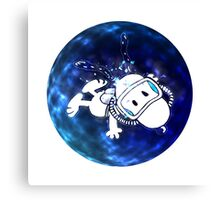 snoopy was swimming Canvas Print