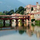 Bassano del Grappa and the covered bridge by annalisa bianchetti