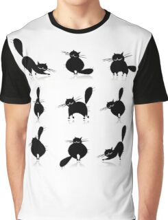 Funny big cats, seamless pattern Graphic T-Shirt