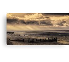 Early morning and the tide is out on the Solent Canvas Print