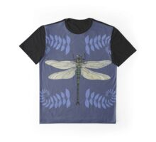 Dragonfly and Fern Graphic T-Shirt
