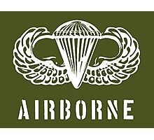 US airborne parawings - white Photographic Print