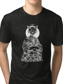 Cat Queen black and white Tri-blend T-Shirt