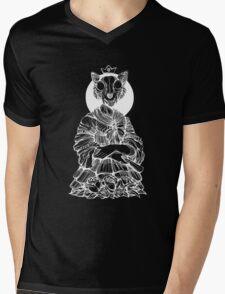 Cat Queen black and white Mens V-Neck T-Shirt