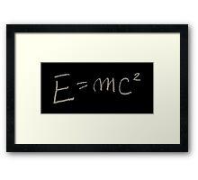 E=MC2 Framed Print
