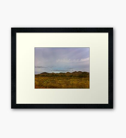 Scrub and Hills Outback Australia Framed Print