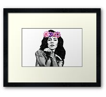 Marina and The Diamonds Flower Crown Framed Print