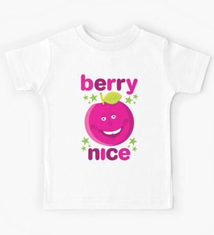 Berry Nice in dark pink Kids Tee