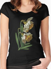 Daffodils - acrylic on canvas Women's Fitted Scoop T-Shirt