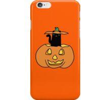 Black Cat inside Jack o' Lantern iPhone Case/Skin