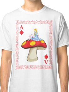Alice's Playing Card in Wonderland Classic T-Shirt