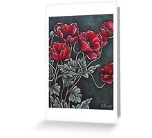 The Torch and Poppy Red Greeting Card
