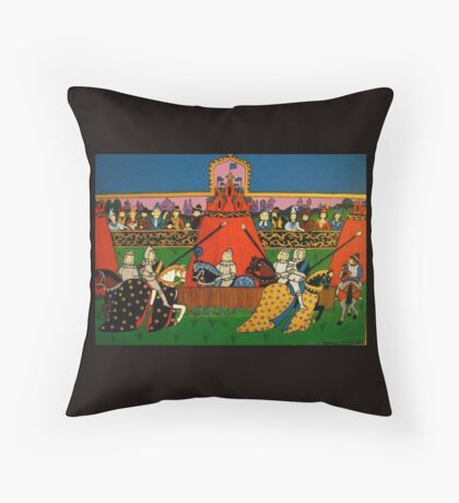 Medieval Tournament Pillow and Tote Bag Throw Pillow