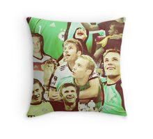 Neuer and Muller - German Football Throw Pillow