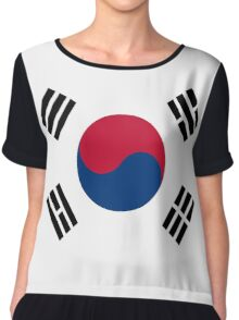 Living Korea Flag Chiffon Top
