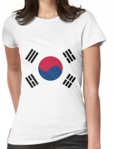 Living Korea Flag Womens Fitted T-Shirt