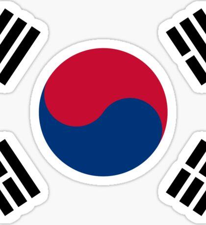 Living Korea Flag Sticker