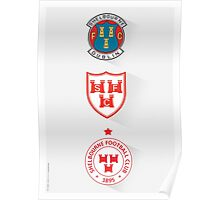 SHELBOURNE FC - THE CRESTS - PRINT Poster