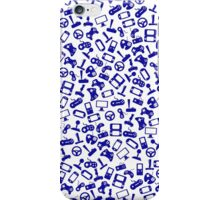 Blue game controllers iPhone Case/Skin