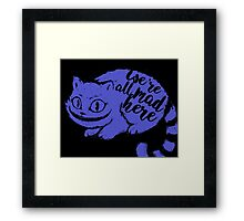 Mad But Cute Framed Print