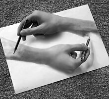 MC Escher - Drawing Hands by TheSilentBadger