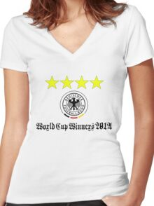 Germany World Cup Winners 2014 Women's Fitted V-Neck T-Shirt