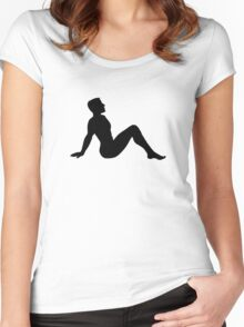 Mudflap Man Women's Fitted Scoop T-Shirt