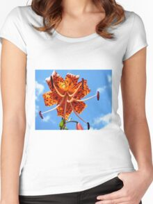 Turk's Cap Lily Women's Fitted Scoop T-Shirt