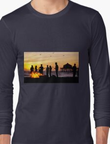 Bonfire on the Beach Long Sleeve T-Shirt