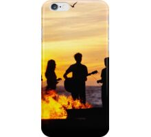 Bonfire on the Beach iPhone Case/Skin