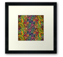 Zentangle Design Tropical Flowers Framed Print