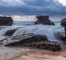 Sandy Beach Rock Falls 1 by Leigh Anne Meeks