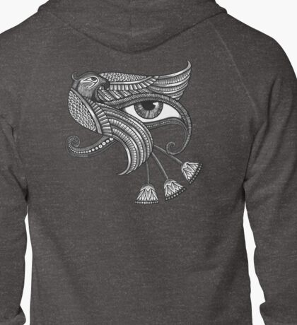 Eye of Horus (Tattoo Style Tee) Zipped Hoodie
