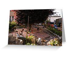 Miniature Railway Garden in Dunning, Scotland Greeting Card