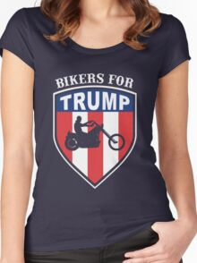 Bikers for Trump 2016 Women's Fitted Scoop T-Shirt