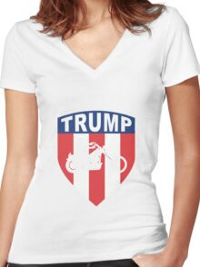 Bikers for Trump 2016 Women's Fitted V-Neck T-Shirt