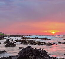 Sandy Beach Sunrise 5 by Leigh Anne Meeks