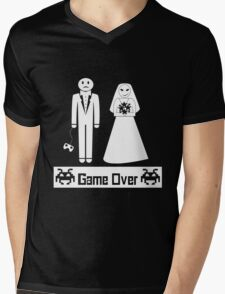 Game Over Mens V-Neck T-Shirt