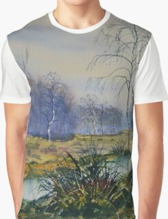 Stream in Flood on Strensall Common Graphic T-Shirt