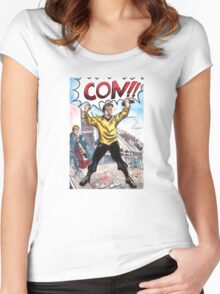 CON!!! Women's Fitted Scoop T-Shirt