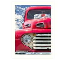 Classic Red Truck Art Print