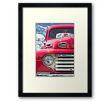 Classic Red Truck Framed Print
