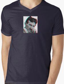 Tesla for the win FTW Mens V-Neck T-Shirt