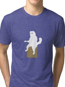 Cartoon Persian Cat Room Guardian Meme  Tri-blend T-Shirt