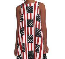 God Bless The USA A-Line Dress