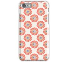 Orange floral seamless pattern. Doodle simple kids background. Hand drawn wallpaper iPhone Case/Skin